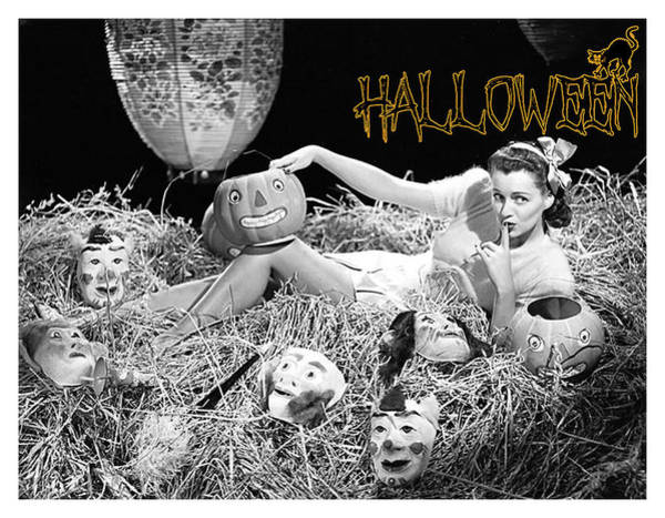 Wall Art - Photograph - Halloween Night In Hay by Long Shot