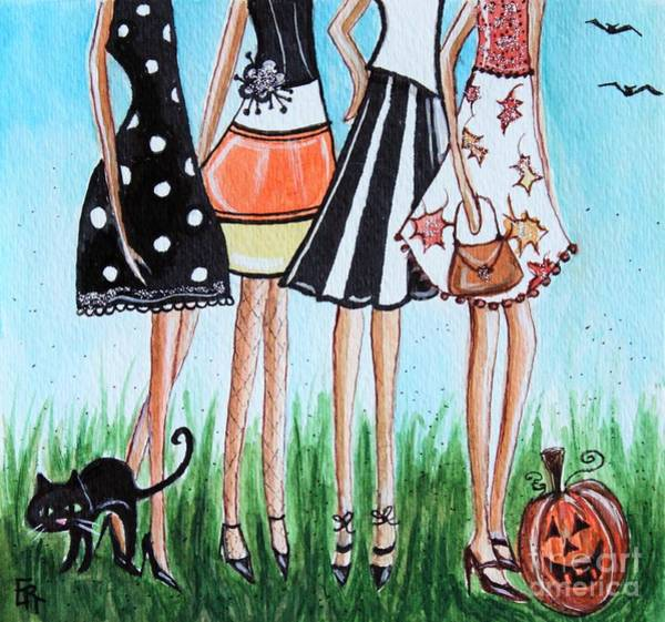 Painting - Halloween Party by Elizabeth Robinette Tyndall