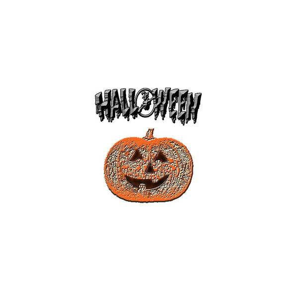 Digital Art - Halloween Pumpkin by Judy Hall-Folde