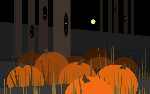 Digital Art - Halloween Pumpkins Await by Val Arie