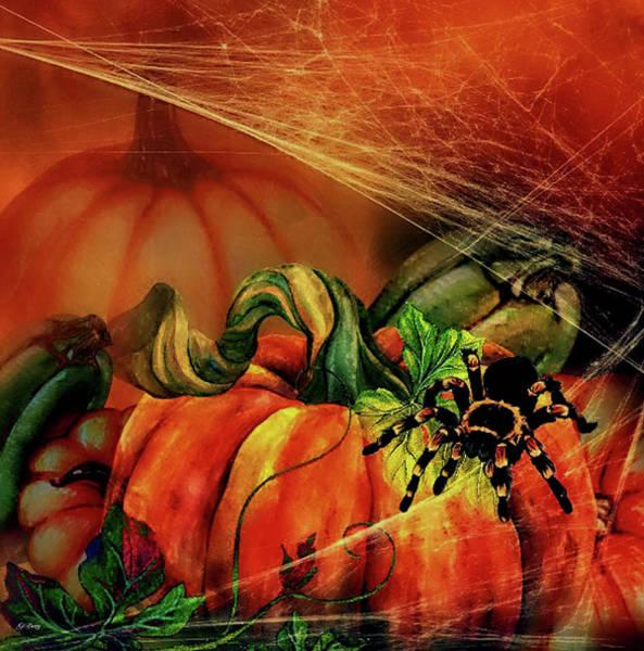 Pumkin Wall Art - Mixed Media - Halloween Pumpkins by G Berry