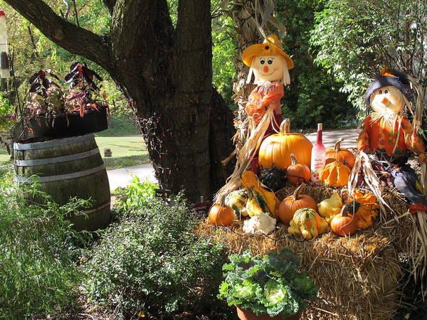 Ragamuffin Photograph - Halloween Scarecrows by Cindy Kellogg