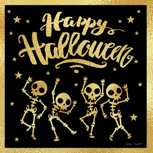 Wall Art - Painting - Halloween Sign 4 by Jean Plout