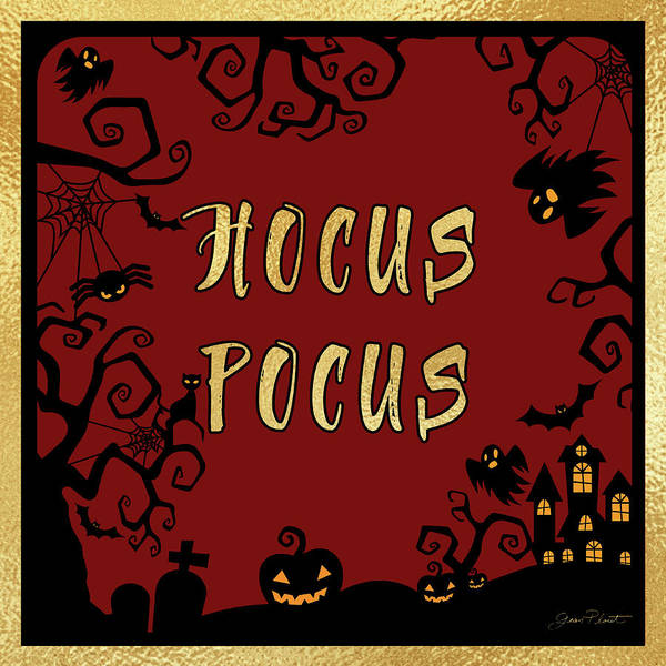 Wall Art - Digital Art - Halloween Sign 5 by Jean Plout
