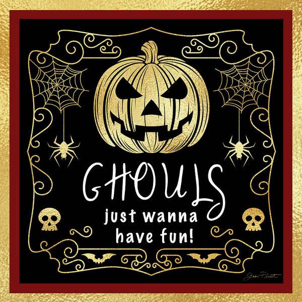 Wall Art - Digital Art - Halloween Sign 6 by Jean Plout