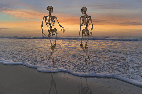 Sea View Digital Art - Halloween Stroll by Betsy Knapp