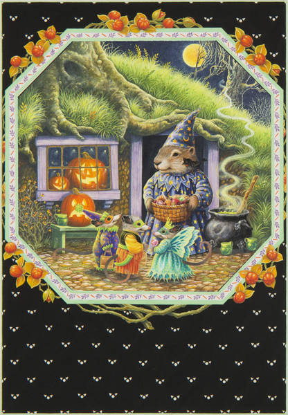 Groundhog Painting - Halloween Treats by Lynn Bywaters
