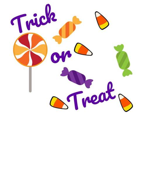 Trick Or Treat Drawing - Halloween Trick Or Treat Candy Fun by Kanig Designs