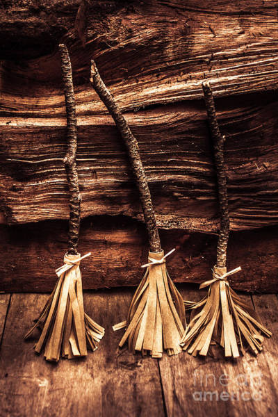 Gallery Wall Wall Art - Photograph - Halloween Witch Brooms by Jorgo Photography - Wall Art Gallery