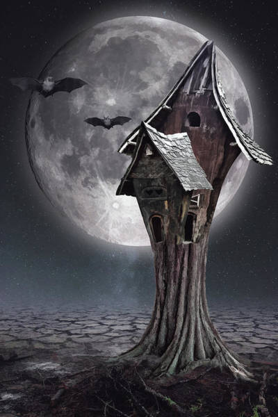 Habitat Digital Art - Halloween Witch House 1 by Mihaela Pater