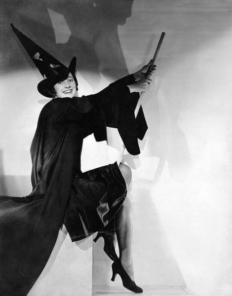 Halloween Photograph - Halloween Witch by Underwood Archives