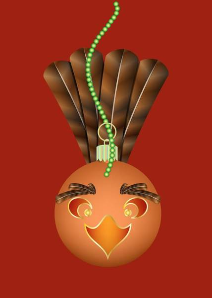 Digital Art - Hallowgivingmas Turkey Ornament Holiday Humor by MM Anderson