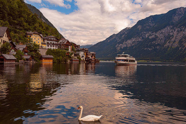 Photograph - Hallstatt Austria Ferry by Brenda Jacobs
