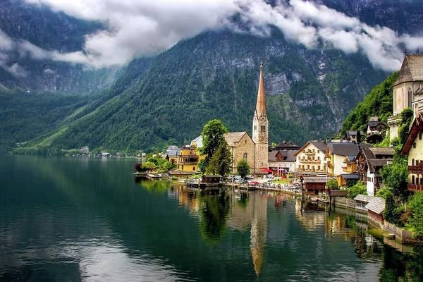 Photograph - Hallstatt Across The Lake, Austria  by Harriet Feagin