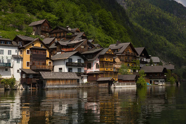 Wall Art - Photograph - Hallstatt Reflections In The Lake by Bridget Calip