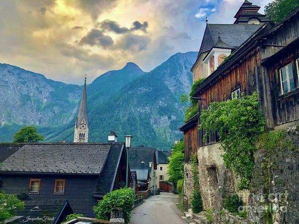 Photograph - Hallstatt Village Stroll by Jacqueline Faust