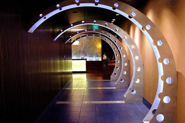 Hallway Leading To A Bar In Orlando Florida Art Print