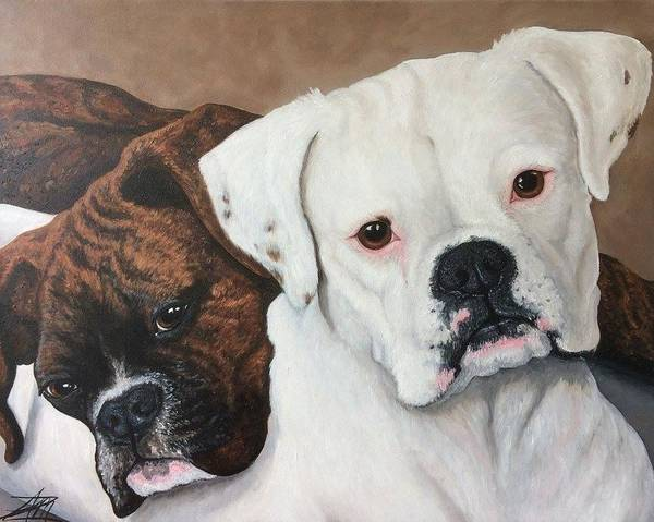 Painting - Halo And Henry by Ana Marusich-Zanor