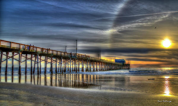 Photograph - Halo Newport Pier Reflections Orange County California Los Angeles Collection Art by Reid Callaway