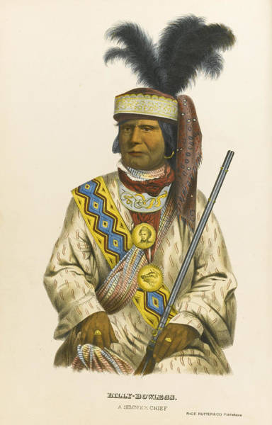 Wall Art - Drawing - Halpatter-micco Or Billy Bowlegs. A Seminole Chief by Charles Bird King