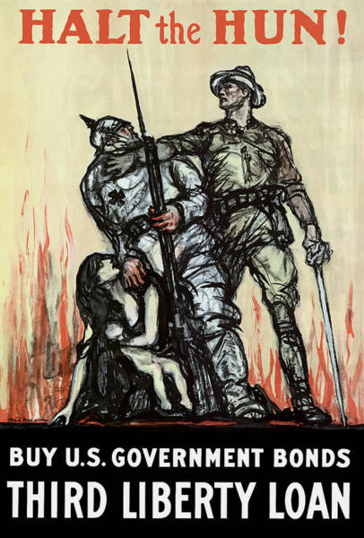 Wwi Wall Art - Painting - Halt The Hun - Ww1 by War Is Hell Store