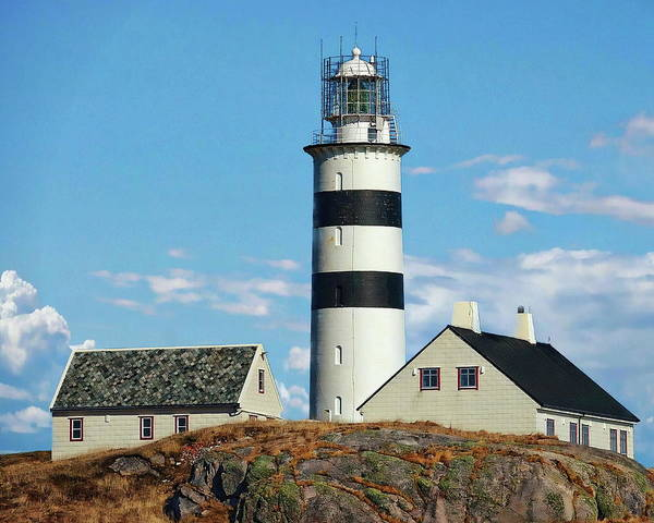 Photograph - Halten Lighthouse by Anthony Dezenzio
