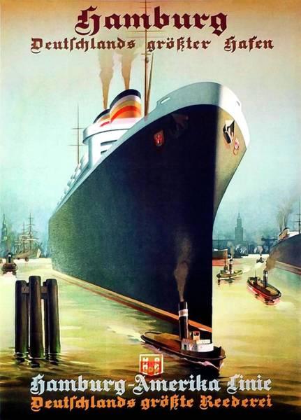 Wall Art - Painting - Hamburg - America Cruiser by Long Shot