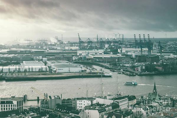 Hamburg Port  Art Print