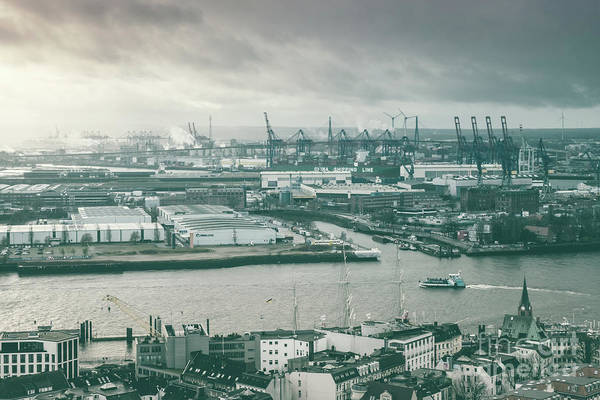 Photograph - Hamburg Port  by Marina Usmanskaya