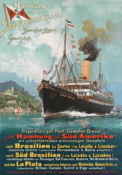 Wall Art - Painting - Hamburg - South America Cruiser by Long Shot