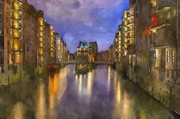 Painting - Hamburg Speicherstadt by Modern Art