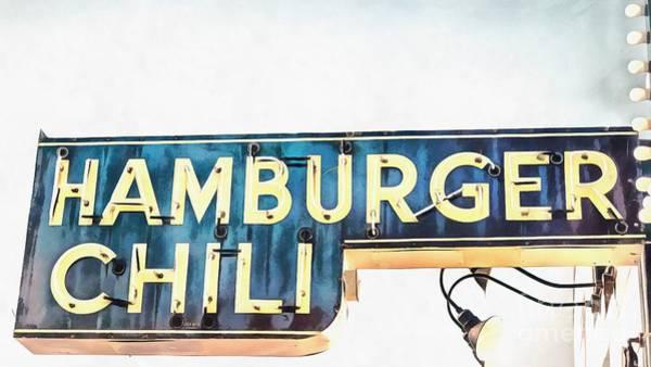 Meat Digital Art - Hamburger Chili Chicago by Edward Fielding