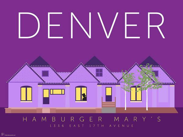 Digital Art - Hamburger Mary's by Sam Brennan