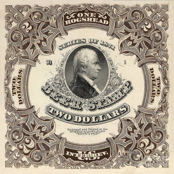 Wall Art - Photograph - Hamilton Beer Revenue Stamp  Hogshead  by Jon Neidert