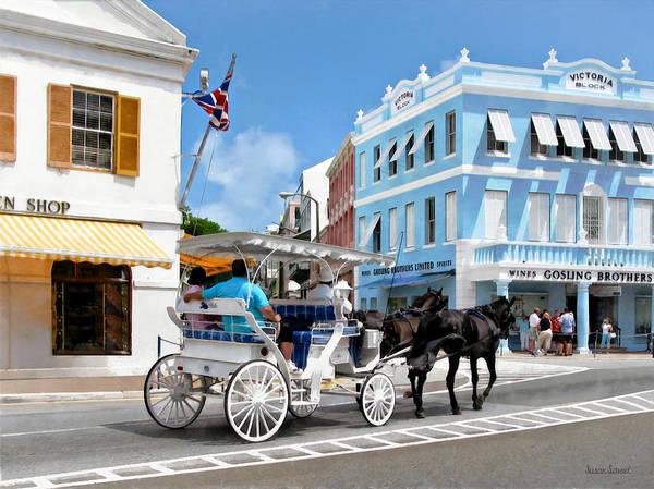 Photograph - Hamilton Bermuda Carriage Ride by Susan Savad