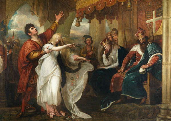 Ophelia Painting - Hamlet- Act Iv, Scene V  by Benjamin West