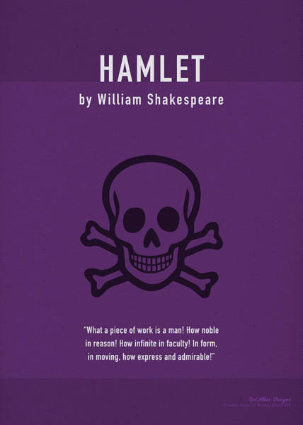 Shakespeare Wall Art - Mixed Media - Hamlet By Shakespeare Greatest Books Ever Series 008 by Design Turnpike