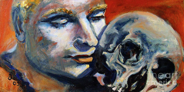 Painting - Hamlet Laurence Olivier William Shakespeare by Ginette Callaway