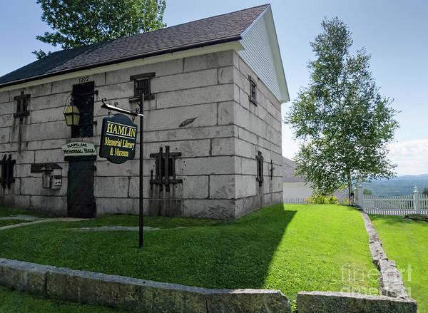 Photograph - Hamlin Memorial Library, Paris Hill, Maine #60761 by John Bald