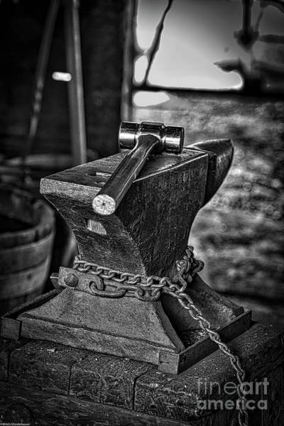 Anvil Photograph - Hammer And Anvil by Mitch Shindelbower