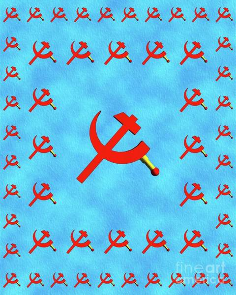 Communist Painting - Hammer And Sickle by Pierre Blanchard