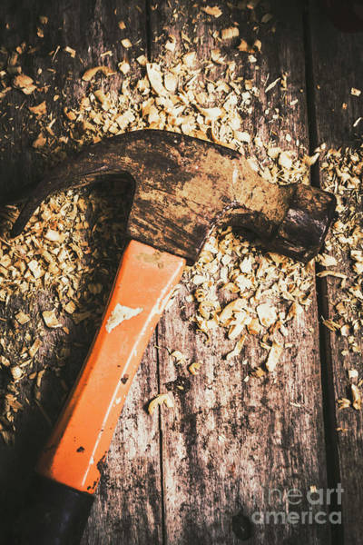Repair Photograph - Hammer Details In Carpentry by Jorgo Photography - Wall Art Gallery