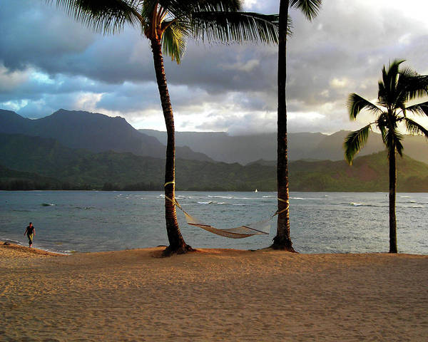 Hammock At Hanalei Bay Art Print