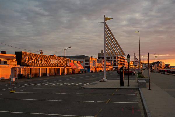 Photograph - Hampton Beach Playland Arcade Sunrise Hampton Nh by Toby McGuire