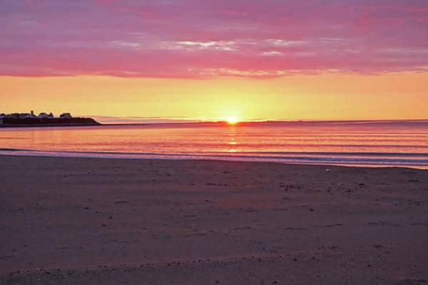 Photograph - Hampton Beach Purple Sunrise Hampton New Hampshire Nh by Toby McGuire