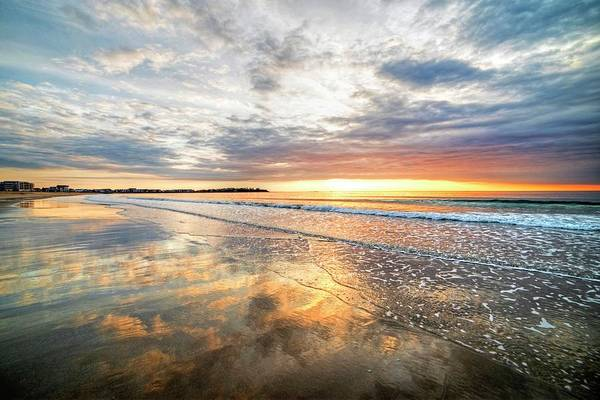 Hampton Beach Sunrise Hampton Beach State Park Hampton Nh Reflection Art Print