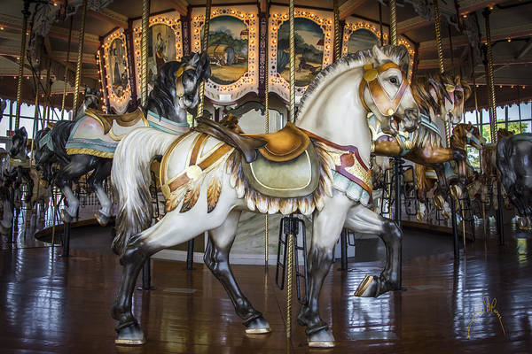 Photograph - Hampton Carousel by Williams-Cairns Photography LLC