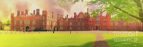 Photograph - Hampton Court Palace Panorama by Leigh Kemp