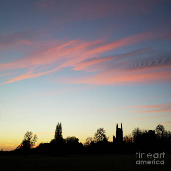 Warwickshire Photograph - Hampton Lucy Sunset Silhouette by Tim Gainey