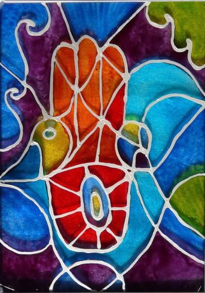 Vitrage Wall Art - Photograph - hamsa on the Chagall way by Sandrine Kespi